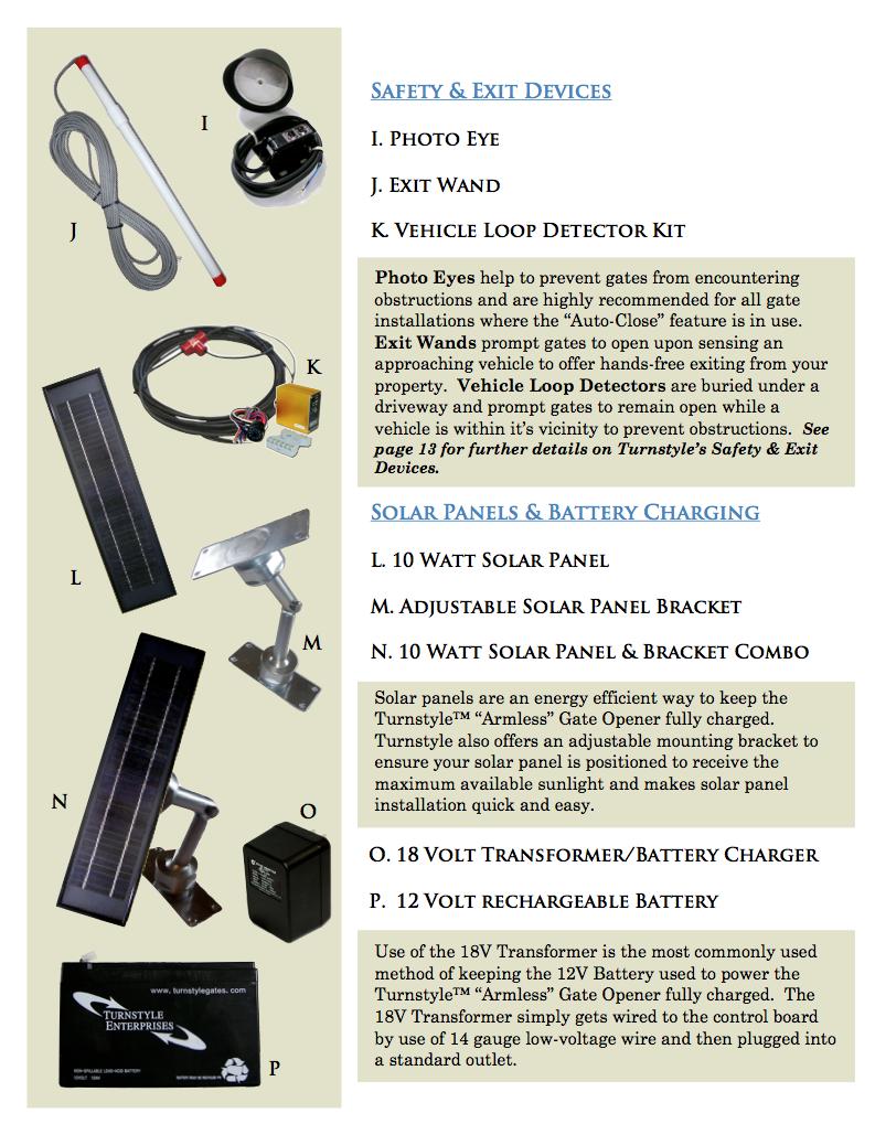 gate opener accessories